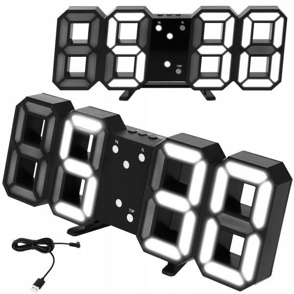 ISO 9143 Digitálne LED hodiny čierna