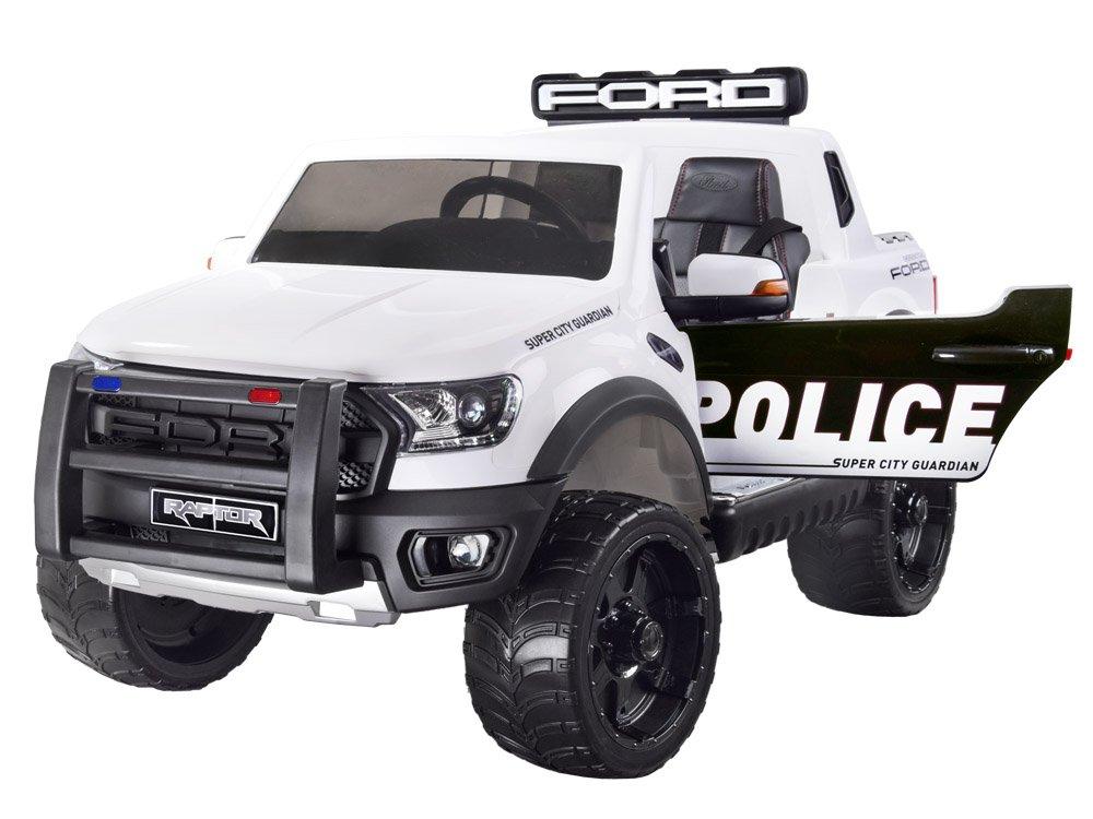 Joko PA0225 BI Elektrické autíčko Ford Ranger Raptor Policejní 4x4 bílé
