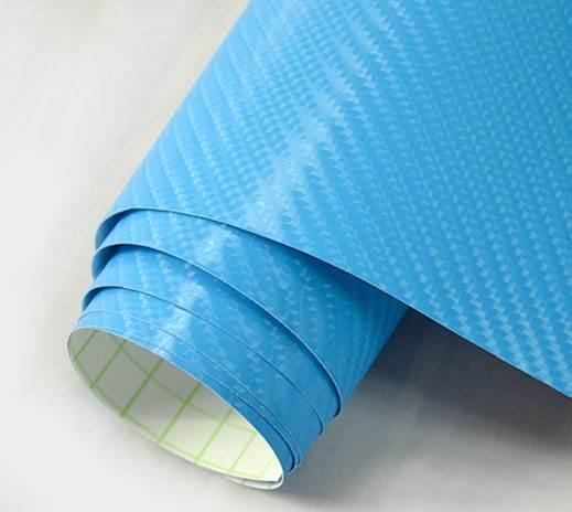 KIK Karbónová fólia 4D 10 x 152 cm svetlo modrá
