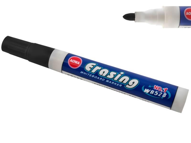 Popisovač na whiteboard Erasing / hrot 2,8 mm / čierny