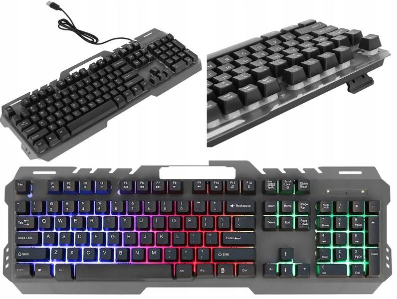 EWEADN Herná klávesnica LED Metal GT-5