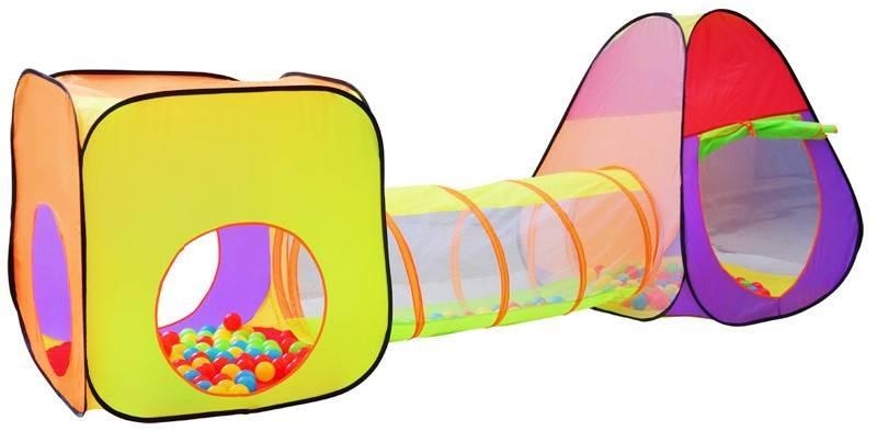 Malatec 2880 Dětský stan a hrací domeček s tunelem včetně 200 míčků