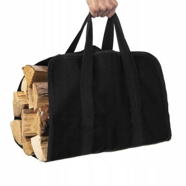 Kaminer 8791 Taška na krbové dřevo 100x45cm černá