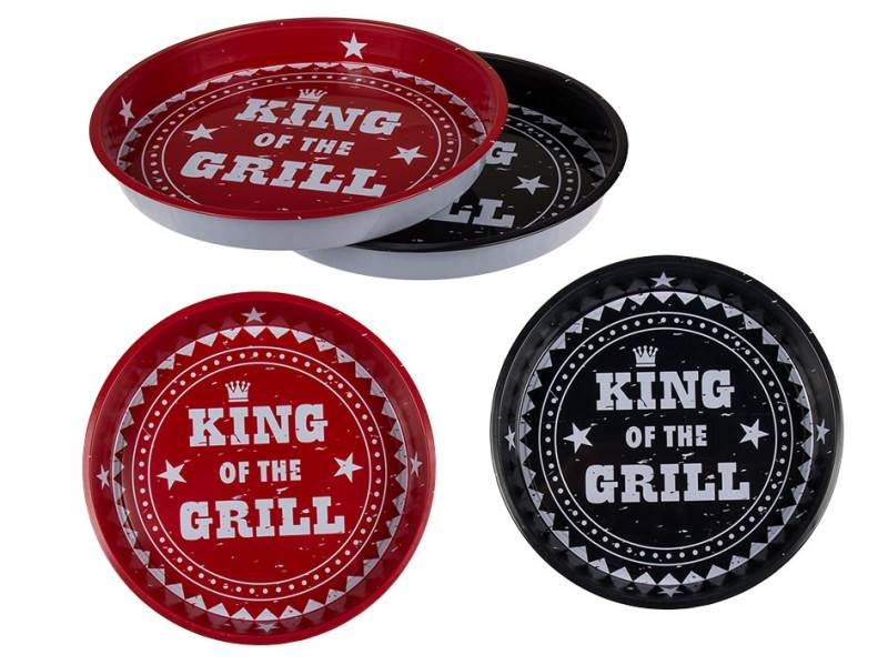 Kemis Plechový podnos King of the Grill 33 cm
