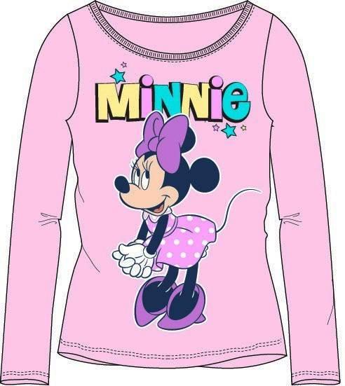 Javoli Detské tričko dlhý rukáv Disney Minnie veľ. 128 ružové III