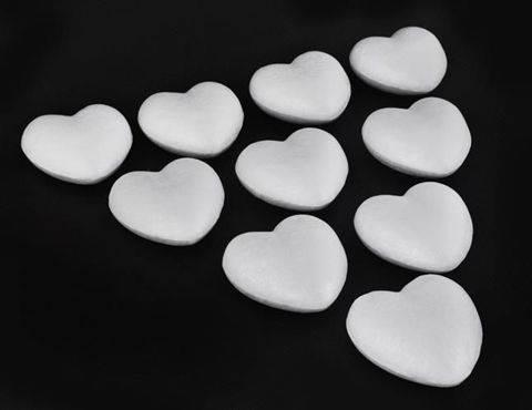 Malatec Polystyrenové srdce 8cm - 1000Ks