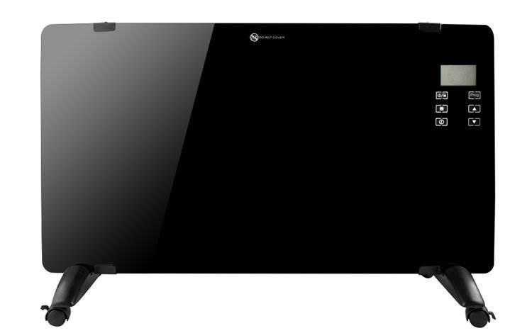 Malatec 8958 Konvektor 2000W sklenený dizajn čierna