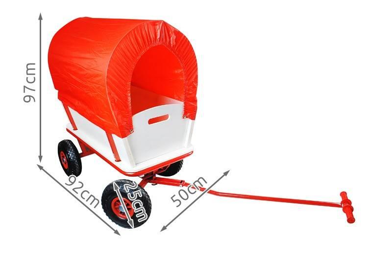 Záhradný vozík s plachtou 150 Kg - WO-8602