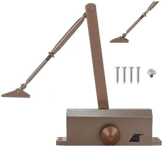 Malatec 8466 Zatvárač dverné 65-80 kg hnedá