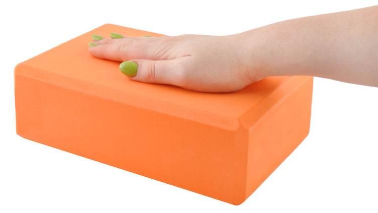 ISO Penová kocka na jogu 23x15x7.4cm - oranžová