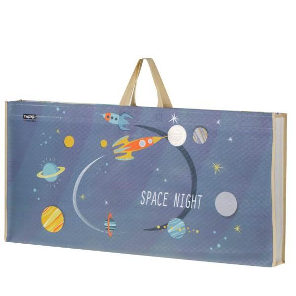 KIK Pěnová podložka na hraní Space Night 180 x 120 cm 4