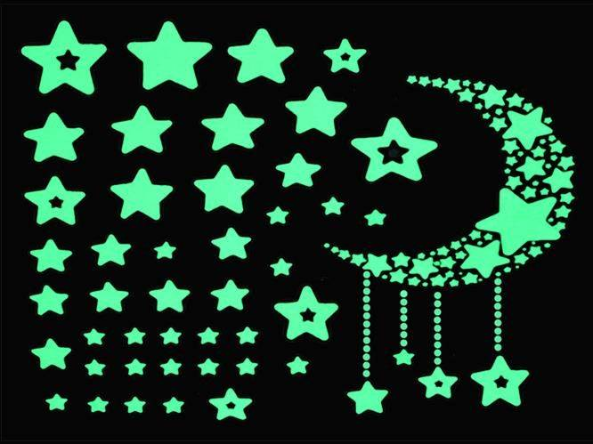 Fluorescent Sticker - Hviezdy