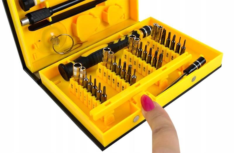 ISO 5760 Sada náradia na opravu mobilných telefónov 38 dielov3