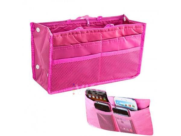 ISO Organizér do kabelky růžový