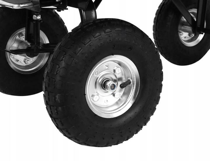 Malatec 9043 Zahradní přepravní vozík výklopný 350 Kg černá4