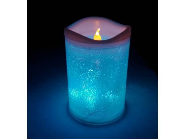 ART 0372 LED svíčka na baterie 12 cm RGB