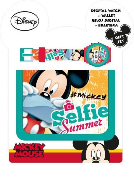 Javoli Darčeková sada Mickey Mouse Selfie peňaženka s hodinkami