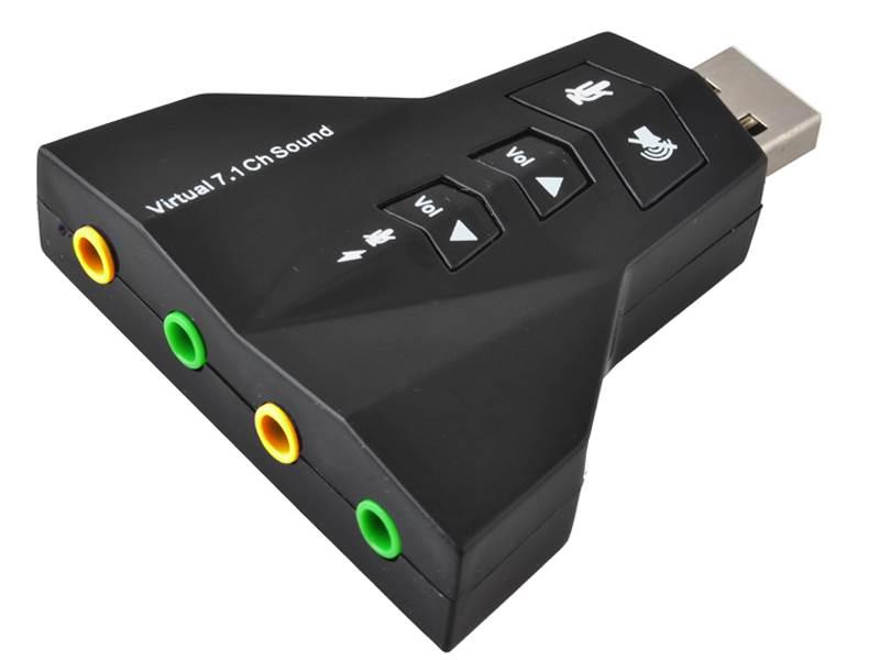 ISO USB Zvuková karta sa simuláciou 7.1 Gamer