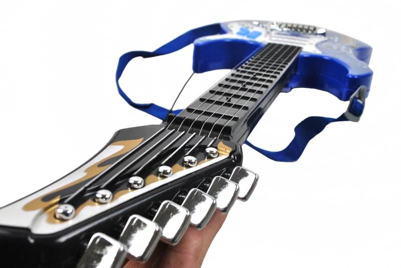 Detská rocková elektrická gitara na batérie + zosilňovač a mikrofón Blue9