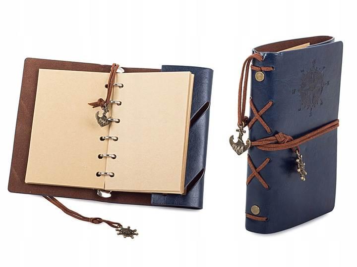 Verk Cestovné denník s kompasom Vintage modrá