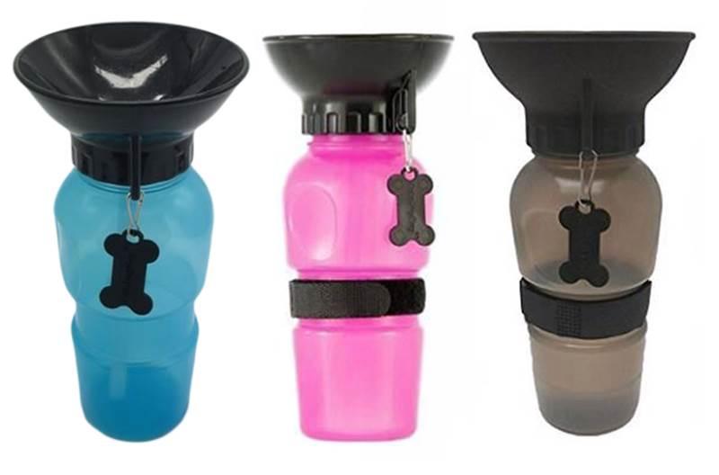 KIK Cestovní láhev pro psy s miskou 500 ml