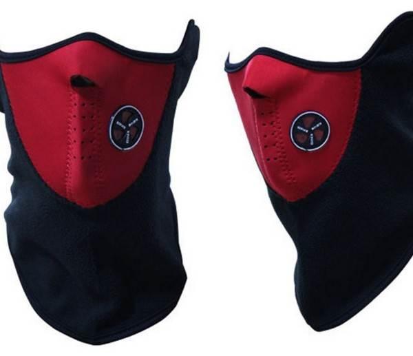 Termo maska na tvár červená