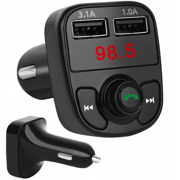 ISO 8797 Transmitter FM MP3 X8, Bluetooth Dual 3.1A