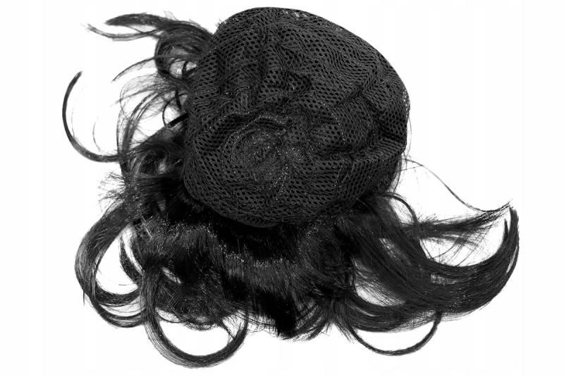 ISO Dámská paruka černá krátká3