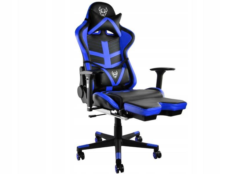 Malatec 6426 Herní židle černo modrá1