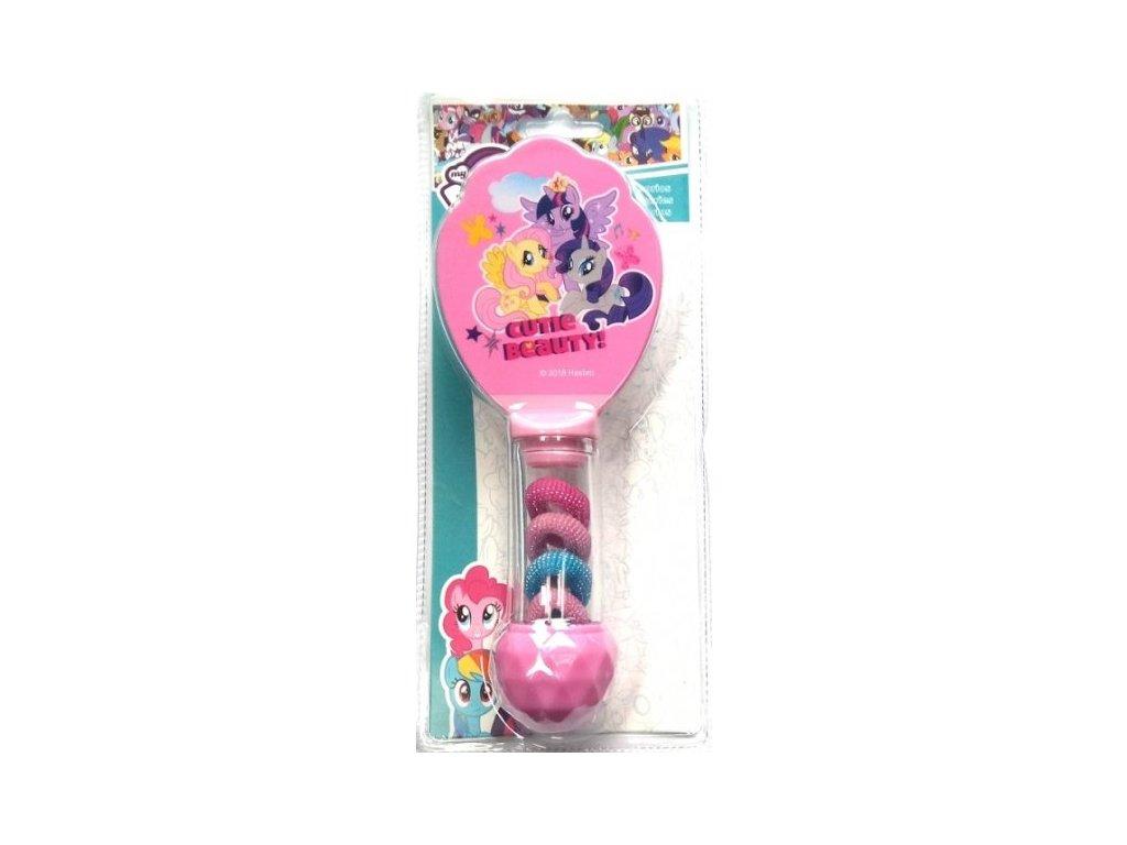Javoli Hřeben kartáč My Little Pony s gumičkami