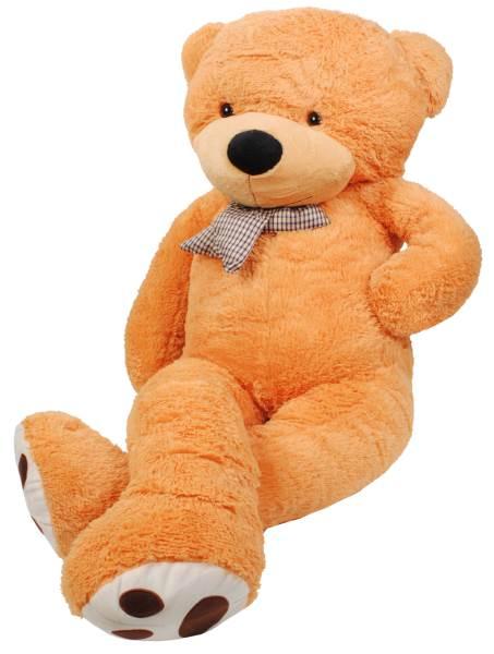 Velký plyšový medvěd světle hnědý 130 cm