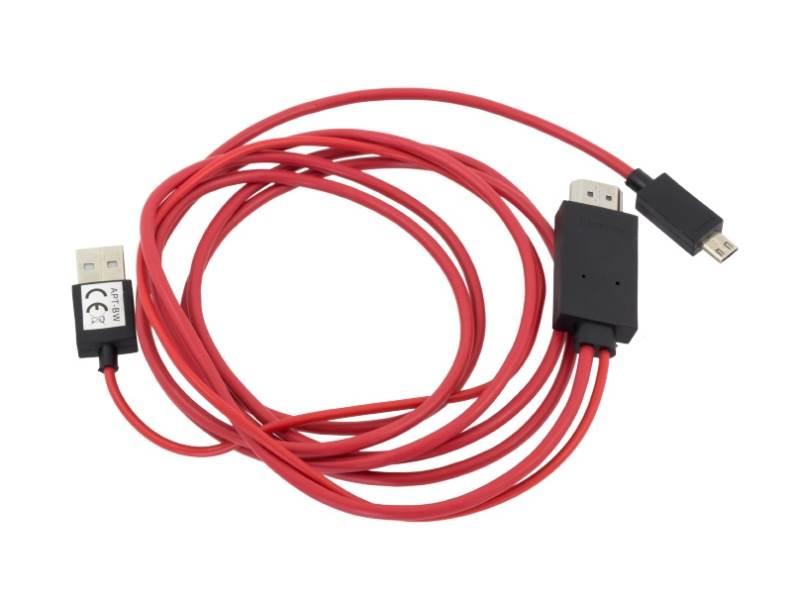 APT HD37 Redukcia microUSB na HDMI pre telefóny s MHL