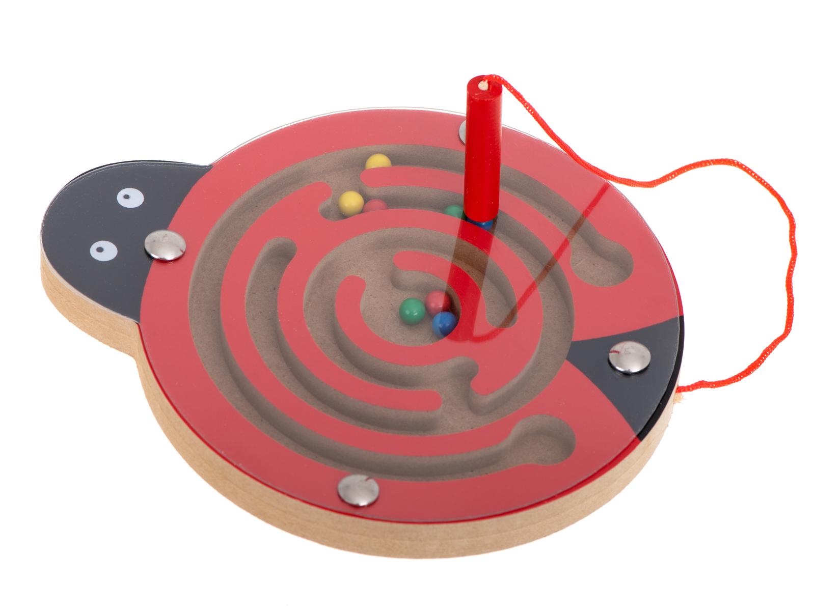 KIK Magnetický labyrint zvieratka lienka