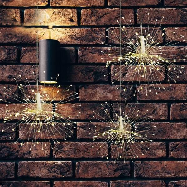 ISO 9515 Vánoční LED osvětlení ohňostroj 100 LED teplá bílá5
