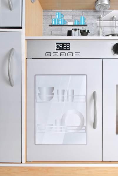 Kruzzel 9151 Dětská dřevěná kuchyňka s příslušenstvím XXL světle hnědá4