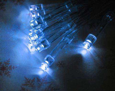 ISO Vianočná reťaz na batérie 40 LED modrá dĺžka 5m4