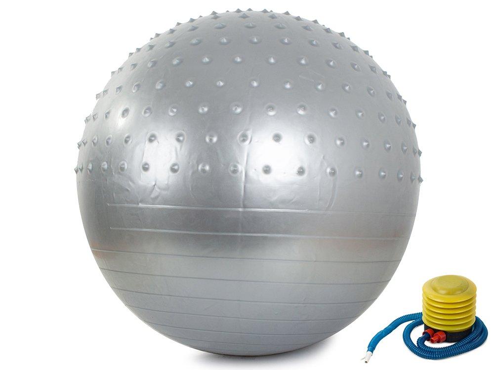 Verk 14284 Gymnastický míč s pumpičkou 75 cm stříbrný