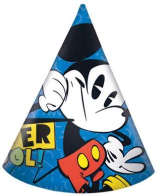 Javoli Papierová párty čiapočka Disney Mickey Super Cool 6 ks