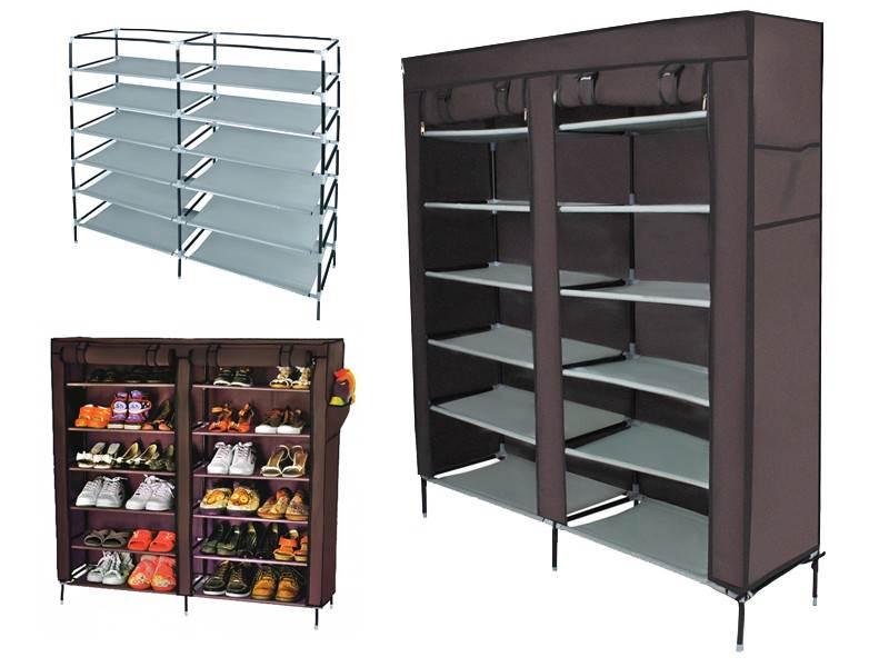 ISO Perfect Shoe Cabinet Skládací skříň 115x30x110 hnědá