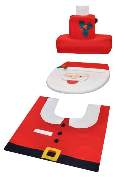 Vánoční potah na toaletu Santa Claus4