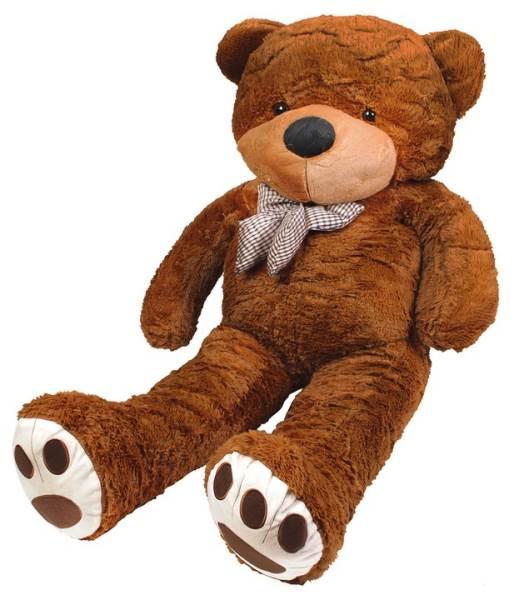 Velký plyšový medvěd tmavě hnědý 160 cm