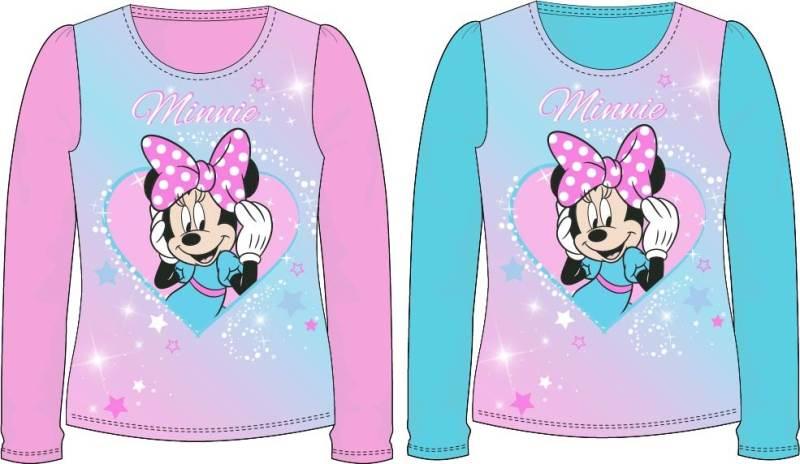 Javoli Detské tričko dlhý rukáv Disney Minnie veľ. 104 ružové