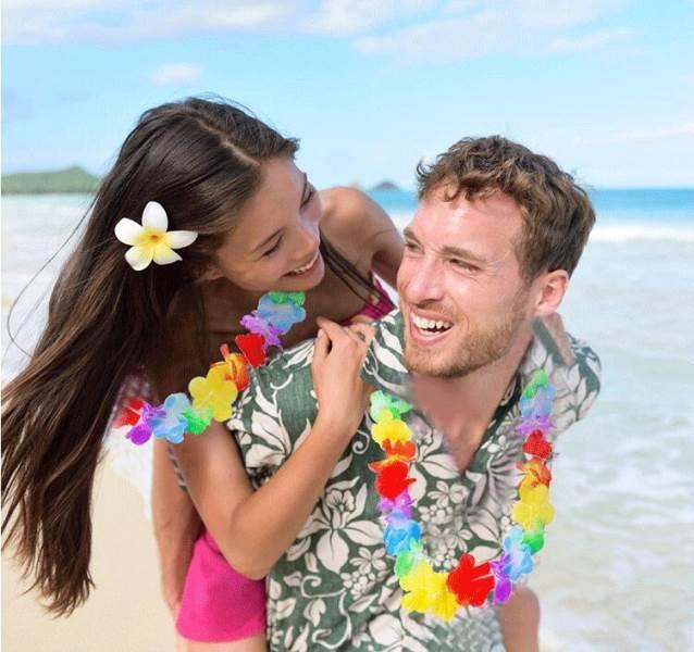 Havajský veniec farebný