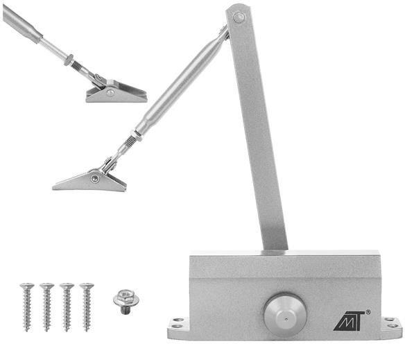Malatec 8471 Zatvárač dverné 40-60 kg strieborná