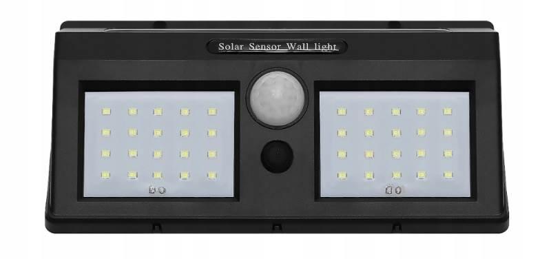 ISO 6683 Solární LED světlo s PIR čidlem pohybu 10W3