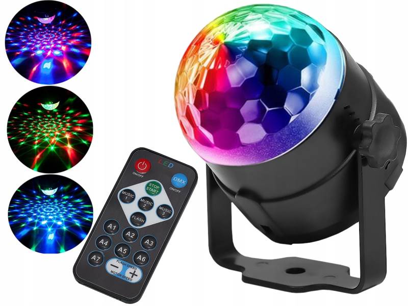 ISO 7056 LED disko koule s dálkovým ovládáním