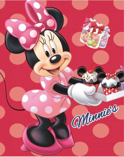 Javoli Fleecová deka Disney Minnie Mouse 120 x 150 cm ružová