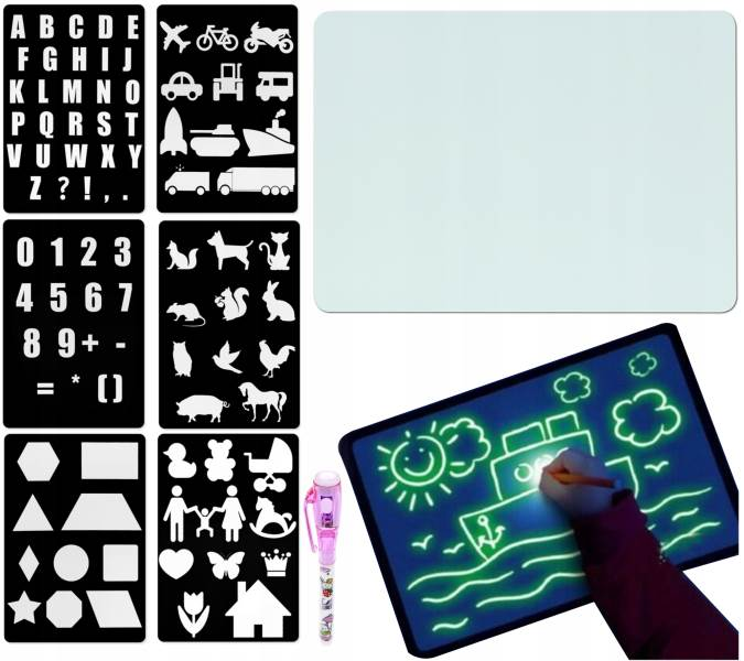 ISO 9179 Svietiace tabuľa na kreslenie GlowTab A41
