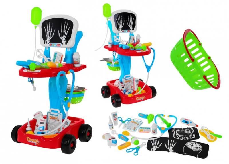 KIK KX7784 Lekársky vozík s röntgenom + doplnkami2