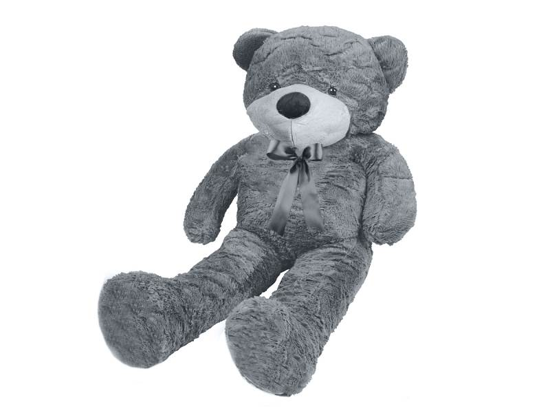 Veľký plyšový medveď sivý 100 cm2